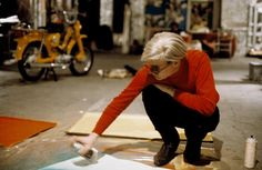 Andy Warhol inside his original silver Factory. #AndyWarhol #TheFactory #Sixties…