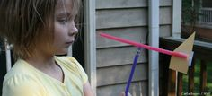 On your next windy day, test the wind's direction with a simple wind vane.