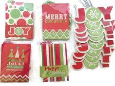 Christmas Layered Glitter Gift Tags - Set of 24 - 5 Assorted Designs *** Hurry! Check out this great item : Christmas Gifts
