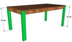 Деревянный стол своими руками. Чертежи