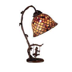 "Astoria Grand Diane Fishscale 15"" Arched Table Lamp - #arched #Astoria #Diane #Fishscale #Grand #lamp #Table #tiffanylampdecor -"