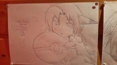 Fullmetal Alchemist Edward Elric with a Pokémon ball