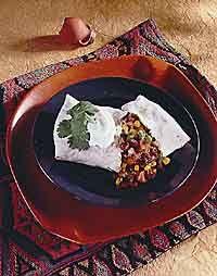 Bean and Vegetable Burrito Photo