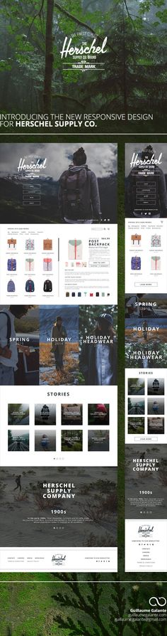 Herschel Supply Co. / Responsive redesign on Behance