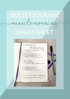 Miracle Morning Cheat Sheet