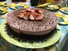2014 Father's Day - chocolate cake witk dark chocolate mousse and strawberry mousse
