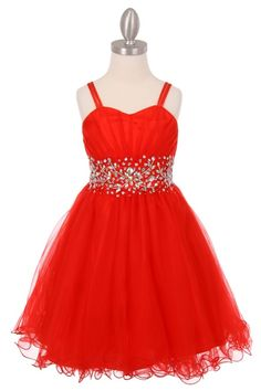 Red Dress for FLower Girls, Pageant, or Party, this tulle dress is a beautiful formal party dress with sparkling AB stones and sequins Red Sleeveless Dress, Tulle Dress, Mesh Dress, Dress Red, Red Flower Girl Dresses, Little Girl Dresses, Girls Designer Dresses, Red Cocktail Dress, Junior Bridesmaid Dresses
