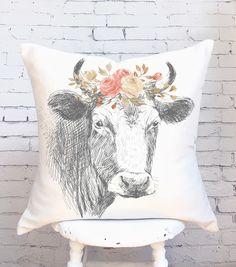 Farmhouse Decor Farmhouse Floral Cow by JolieMarche on Etsy https://www.etsy.com/listing/475649429/farmhouse-decor-farmhouse-floral-cow