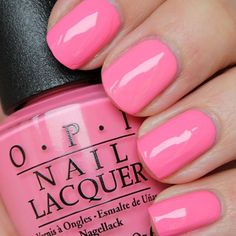 OPI Flip Flops & Crop Tops. A really cute Barbie pink from the Retro Summer collection. 😍😍😍
