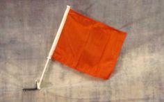 Solid Orange Car Window Mount Flag