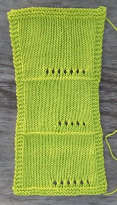 Using Eyelets in Your Gauge Swatch