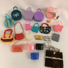 Vintage Barbie Purses Clutch and Luggage Hat Bag Lot of 21 + 4 Perfume Bottles  #Mattel