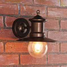 Outdoor Sconce - Bulb Glass Nautical Inspired Outdoor Wall Light