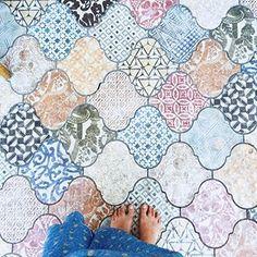 Patterned tile heaven, courtesy of @danarashmore in #dsfloors 💙
