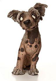 #dog #doglovers #deco #decoração Ceramic Owl, Ceramic Animals, Clay Animals, Dog Sculpture, Animal Sculptures, Pottery Animals, Pottery Studio, Ceramic Painting, Dog Design
