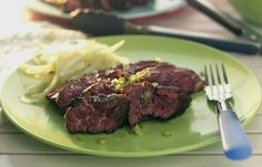Martin Wishart's Lime-marinated flank steak recipe is delicious!  Perfect for a summer evening.
