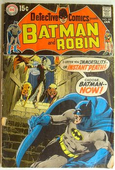 Detective Comics presents Batman and Robin, Cover by Neal Adams Old Comic Books, Batman Comic Books, Vintage Comic Books, Batman Comics, Vintage Comics, Comic Book Covers, Silver Age Comics, Science Fiction, I Am Batman