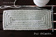 Crochet rectangle ♥️LCS-MRS♥️ with step by step picture instructions. Instructions can be translated. ---- Coton et Lavande: TUTORIAL: STRIPED BAG.... (1ª parte)