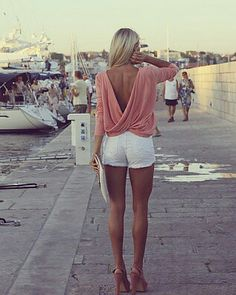 Great idea to wear for a husband. High heels and shorts, by definition, create a long-legged look, on anyone. Should make a happy husband, if worn with a smile.