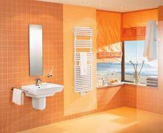 Image result for bathrooms cool orange