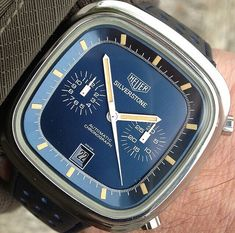 Heuer made some great chronographs in the 70s- but this one's my favourite- Heuer Silverstone by @heuervintage