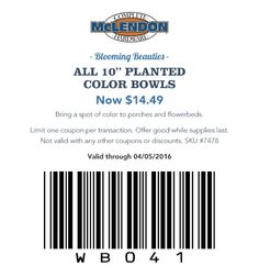 "Blooming Beauties All 10"" Planted Color Bowls Now $14.49 Bring a spot of color to porches and flowerbeds."