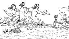 Bloomsday Celebration at Urban ReThink - June 16 Roman Mythology, Greek Mythology, Odysseus And The Sirens, Siren Mermaid, Greek Pottery, Greek Art, Black N White Images, Ancient Greek, Art Images