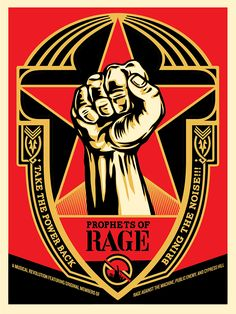 Shepard Fairey Prophets Of Rage Signed Numbered print rare obey poster Chuck D Rage Against The Machine, Art Obey, Shepard Fairey Art, Illustration Photo, Propaganda Art, Art En Ligne, Band Posters, Art Moderne, Cultura Pop