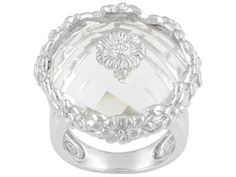 Lutece By Remy(Tm) 13.85ct Round Crystal Quartz Marie Antionette Sterling Silver Ring