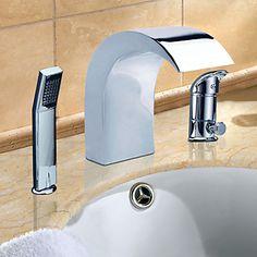 Chrome Finish Contemporary-tyyli Laaja RST bathroom sink hanat Handheld Hana – EUR € 145.45