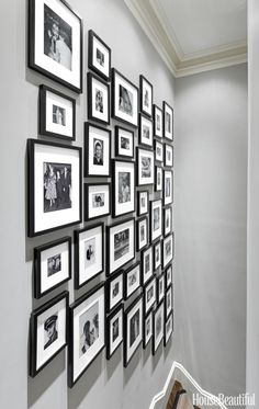 A gallery wall is the perfect place to feature photos from your family's history. Here, designer Nina Farmer used matching frames and black-and-white photos to create a stunning, multigenerational gallery wall. See the full tour here.