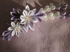 DeviantArt: More Like Large sakura (cherry blossom) kanzashi by EruwaedhielElleth