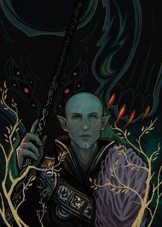 Солас,DA персонажи,Dragon Age,фэндомы,Фен'харел