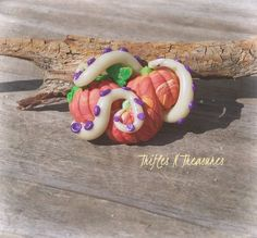 Guarding Pumpkins? Polymer Clay Tentacle Brooch Pin by TNTPatterns on Etsy