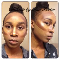 Foundation, Contouring and Highlighting- Caramel Skin\