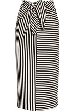 Tibi | Ren striped cotton-blend jersey skirt | NET-A-PORTER.COM [www.net-a-porter.com]