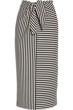 Tibi | Ren striped cotton-blend jersey skirt | NET-A-PORTER.COM [www.net-a-porter.com]