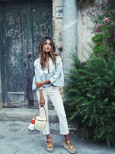 Julie Sariñana in Ravello, Italy Moda Casual, Casual Chic, Boho Chic, Looks Street Style, Street Style Summer, Look Fashion, Fashion Outfits, Womens Fashion, Fall Fashion
