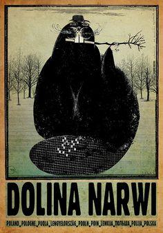 Dolina Narwi, Polish Promotion Poster. Ryszard Kaja