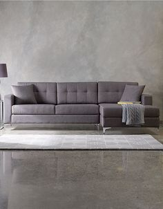 "Home | Furniture | Jorge 107"" Sectional Sofa with track arms 
