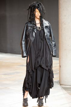 Junya Watanabe   Look 11   Faux leather biker jacket $1511 http://www.brownsfashion.com/product/036812740002/027/cracked-faux-leather-biker-jacket