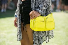 Neon yellow on the field at Coachella. Photos by Mark Iantosca