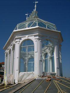 Palácio da Bolsa - claraboia em recuperação