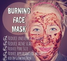 Skin Remedies This mask made with nutmeg, cinnamon, lemons, and honey will help reduce acne scars and is a hormonal acne treatment. - This burning face mask is going to change your life. Beauty Care, Beauty Skin, Hair Beauty, Beauty Stuff, Burning Face Mask, Beauty Secrets, Beauty Hacks, Too Faced, Uneven Skin Tone