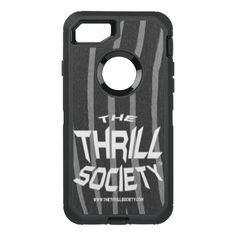 The Thrill Society Logo Squeezed Design OtterBox Defender iPhone 8/7 Case Custom Brandable Electronics Gifts for your buniness #electronics #logo #brand