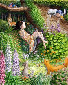 perodog on deviantART (Shinya Okayama) | Sleeping Flower Girl