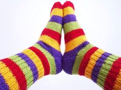 Here's an awesome Etsy Treasury of hand knit socks, check out my flip flop socks in there!  They are in stock and ready to ship! warm feet by Handmadefuzzy on Etsy