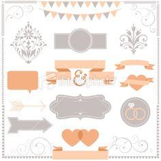 Invitation Ornament Set Royalty Free Stock Vector Art Illustration