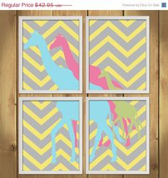 ON SALE Animal Nursery Art Print  Giraffes by MadeForYouPrints, $37.95