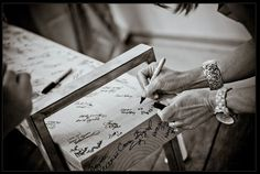 """Our """"guest book"""" bench"""